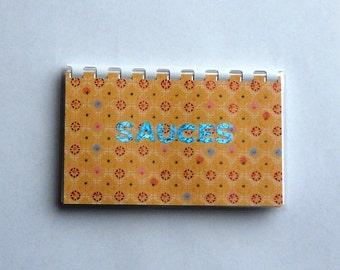 "Handmade ""Sauces"" Blank Recipe book"