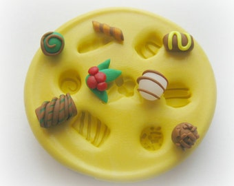 DIY Miniature Dollhouse Candy TINY Polymer Clay Resin Scale Candy Mold
