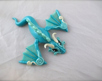 Blue Frost Dragon Pin