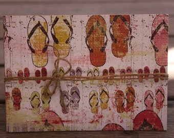 Birthday card-Flip Flops; Beach lover