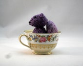 READY TO SHIP Hand Knit Wisteria Purple Squirrel Plush