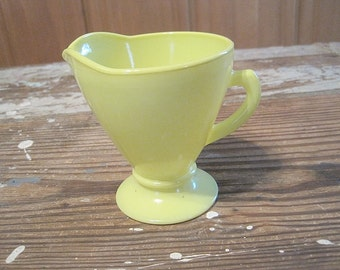 "Hazel Atlas ""Ovide"" Yellow Creamer"