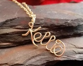 Drop Style 14k Gold Filled Customized Name Necklace, Personalized with any name or word