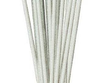 Iridescent White Glitzy Sticks RS5002A6, Wreath Decor, Mesh Supplies, Poly Mesh Supplies, Mesh Ribbon (24 STICKS)