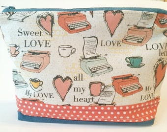 Typewriter Love Zip Pouch