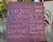 Easter (subway art) Wooden Sign . . .  - Wooden Sign - Wooden Easter Sign