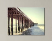 Beach Canvas Art , Ventura Pier Photograph, California, Summer, Beach Decor, Ocean, Seascape, Pier Canvas Print