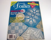 Vintage FAVORITE DOILIES Pattern Book from 199- 24 Heirloom Doily Patterns to Accent your Home.  Best collection from House of White Birches