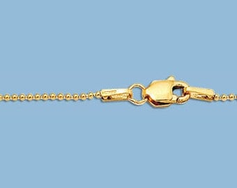 24 Inches - Gold Filled 1mm Ball Chain