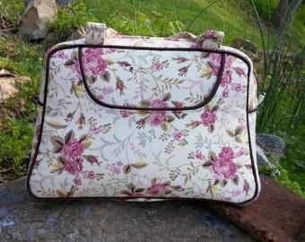Vintage Style Floral Rose and Polka Dot Or Custom Colors Swoon Donna Handbag Purse