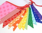 READY to SHIP! Eco-Friendly Reusable Fabric Bunting, Banner, Pennant, Flag, Garland, Photo Prop, Decoration in Rainbow Party