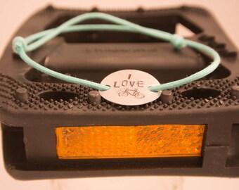 I Love Bikes slipknot bracelet