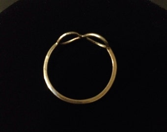 Size 9.5 Infinity Ring - Handmade Reiki Infused Sterling Silver