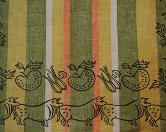 50s Japanese Table Runner 36 X 14 Inches 1950s By Vintagevixen