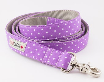 Lilac Dots Dog Leash