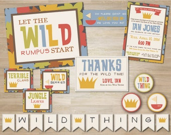 Where the Wild Things Are Party Package Deluxe