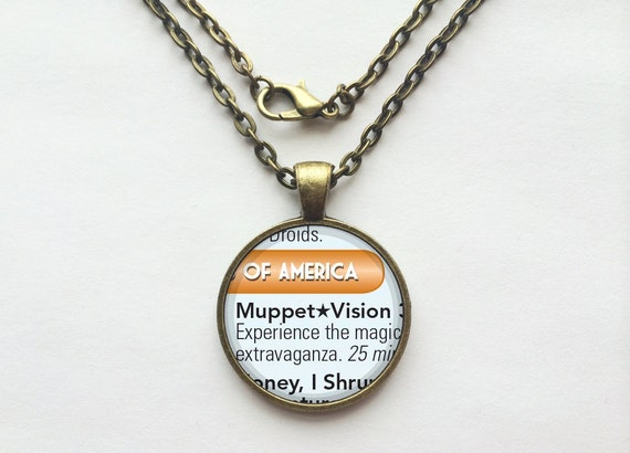 Muppet Vision 3D Necklace from Walt Disney World Hollywood Studios Park Map