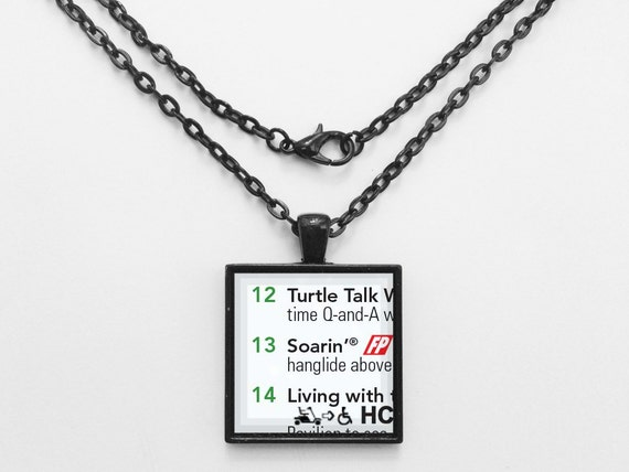 Soarin' Attraction Necklace from Walt Disney World Epcot Park Map