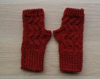 Winter Fingerless gloves, knitted mittens,  knitted fingerless gloves,fingerless mittens in wool