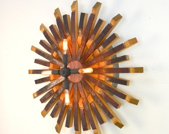 "RADIANT LIGHT - ""Harata""  - Wine Barrel Light  - 100% recycled"