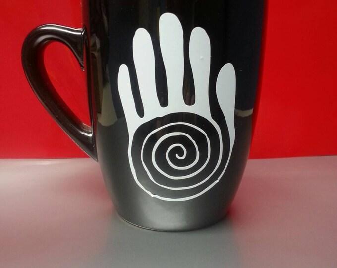 Healing Hand Spiral Hand Coffee Tea Mug