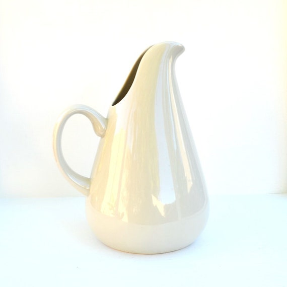 Pitcher russel wright oneida american modern vintage stoneware - Russel wright pitcher ...