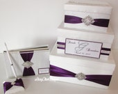 Wedding Card Box and Guest Book Set - Custom Made