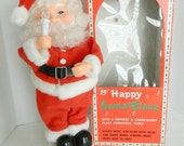 Vintage Santa Claus Animated doll figurine plays music and lights up, AS IS