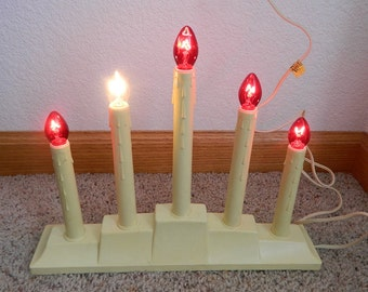 vintage 5 light candoliers lot of 2 christmas window candles clean lined base c7