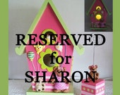 RESERVED FOR SHARON Nursery Nightlight Lamp for Wall or Table Pink with matching Wire Photo Holder