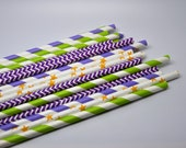 Tinkerbell - Stripe Paper Straws - Paper Party Straws - QTY 25 - Tinkerbell Theme Party - Princess and the Frog Party - Tiana