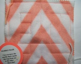 Marble Maze Game Light Orange Chevron maze pattern 1 autism sensory occupational therapy