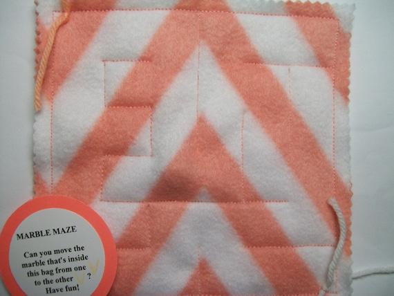 Marble Maze Game Light Orange Chevron Maze Pattern 1 Autism