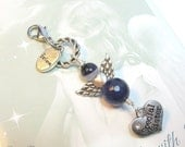 Special Sister Guardian Angel Purse or Bag Charm, Purple Gemstone Angel, Gift Idea