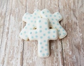 Polka Dot Cross Sugar Cookies