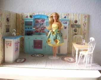 Barbie Doll Kitchen Diorama/Play set