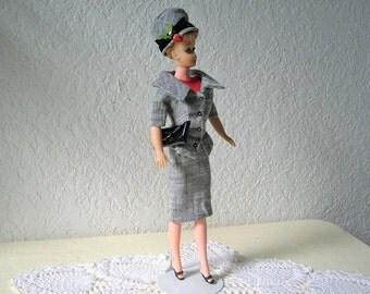Barbie Clone Doll,  Babette by EG, wearing the 1963 Career Girl Tweed Suit