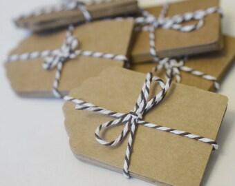 Kraft Paper Tags, Die Cut Tag, Paper Crafting, Gift Tags, Scrapbook Supply