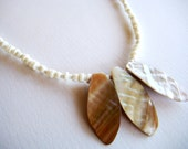 Simple Three Shell Beach Necklace