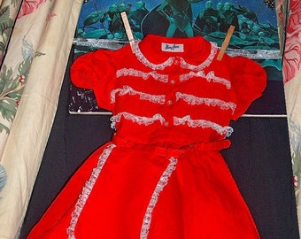 Collectable Mary Jane Vintage Christmas  Toddler Dress