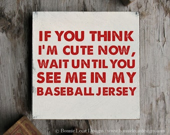 Baseball Sign Baby Shower Gift, Rustic Baseball Wood Sign, Baseball Wall Sign, Vintage Baseball Decor, Sports Themed Baby Shower Gift Idea