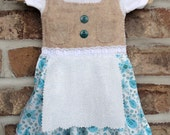 READY TO SHIP Newborn sized baby dirndl