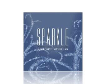 SPARKLE Photography Overlay Collection - 4 Sparkle Photography Overlays - png File Digital Download