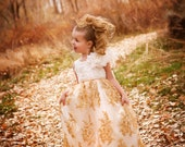 Gold Dusk Princess Girls Dress