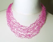 Airy Crochet necklace pattern, tutorial, air necklace - PDF INSTANT DOWNLOAD