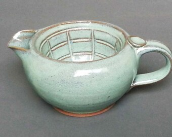 Shaving Scuttle with Lather Ridges Bowl Big Daddy in Green