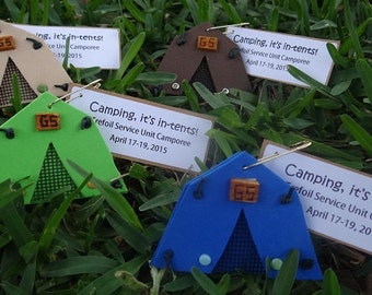 Set of 10 Camping, It's in-tents! Girl Scout SWAP or Craft Kits