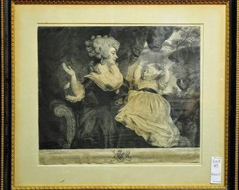 Signed ENGRAVING 1897 Framed