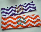Chevron MONOGRAMMED Headband FULLY CUSTOMIZABLE in your favorite colors