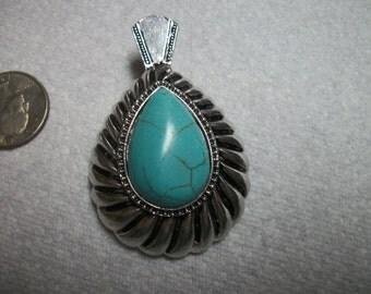 native turquoise pendant